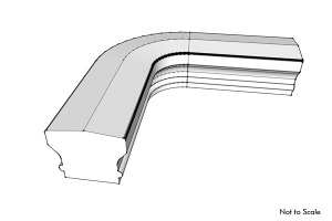 hand rail fitting quarter turn