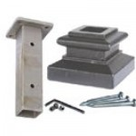 Mounting kit for iron newel