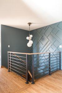 modern wall treatment geometric onlay