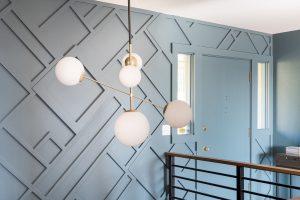 geometric onlay wall pattern