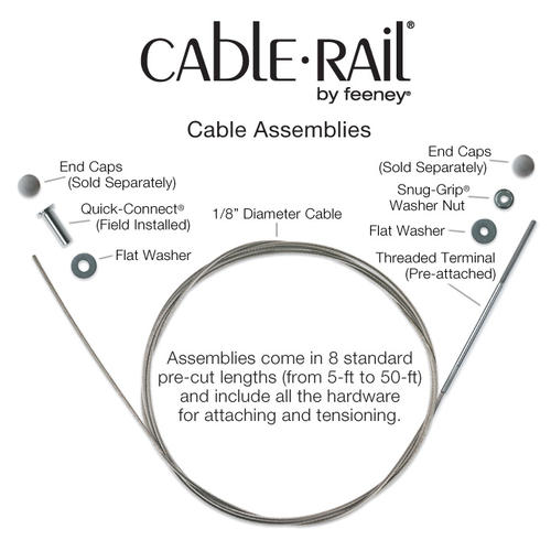 Cable rail assembly by Feeney Inc