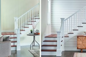 stairway finishes before and after